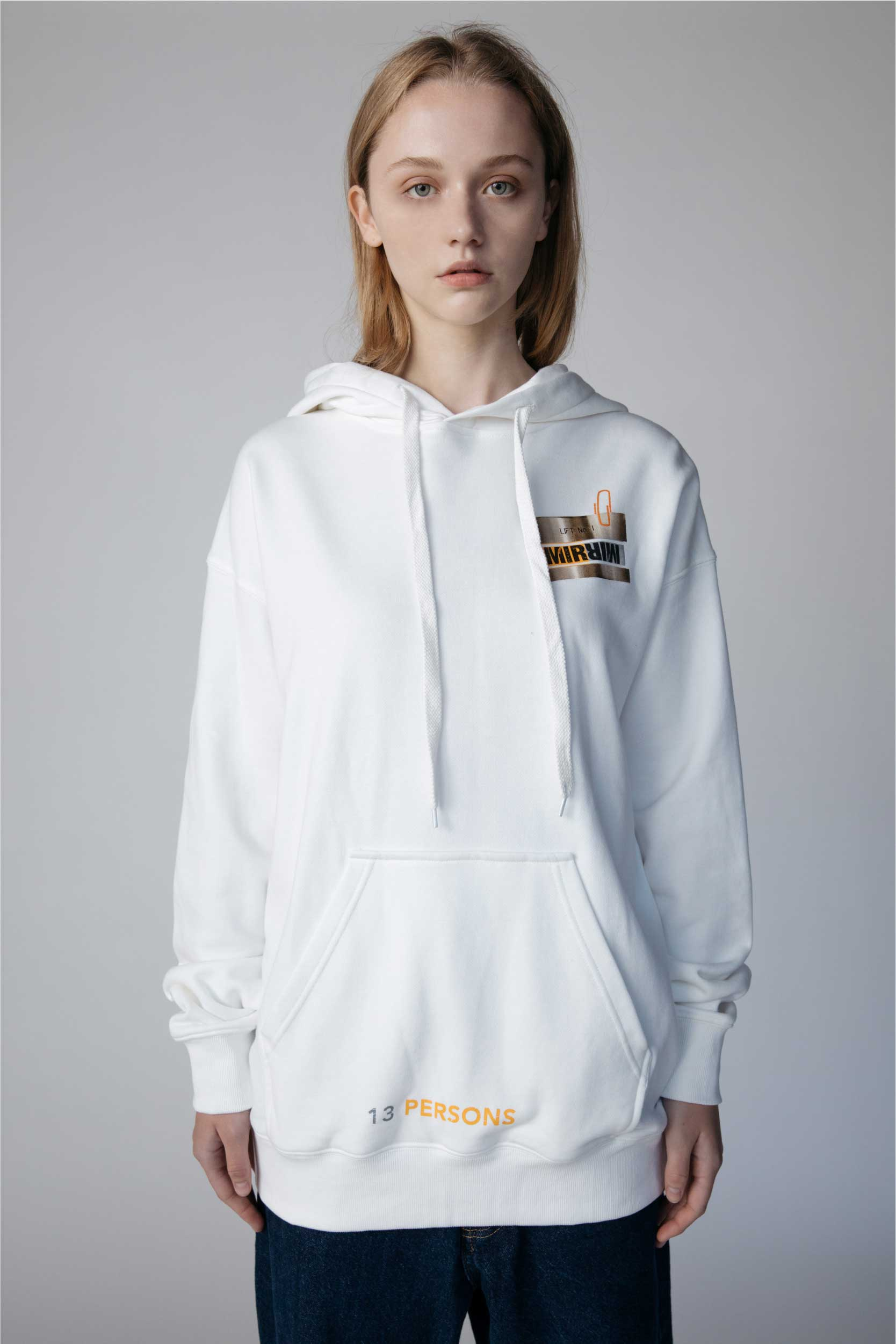 13 Persons Hoodie-White