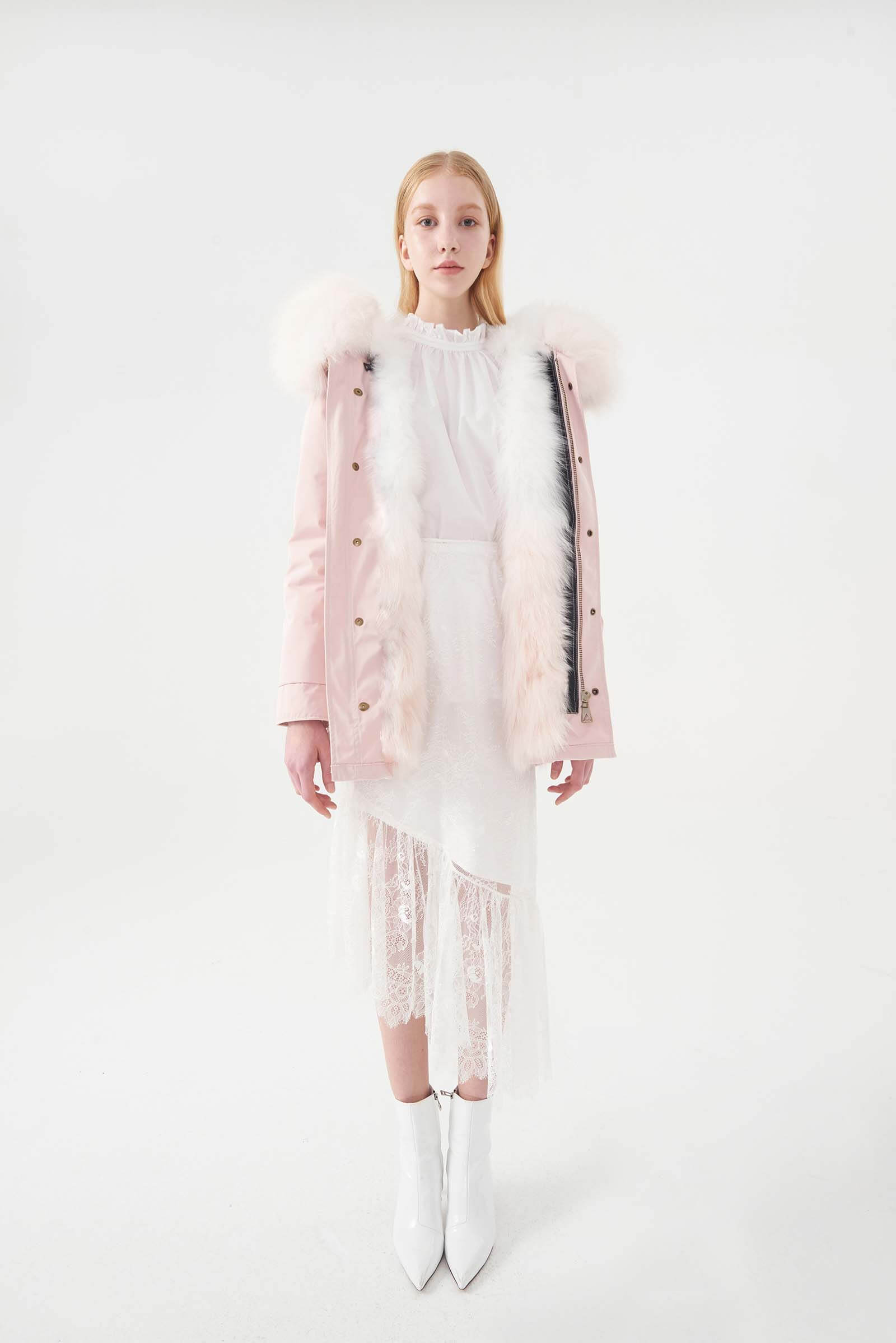 PINK PARKA OMBRE PINK FOX
