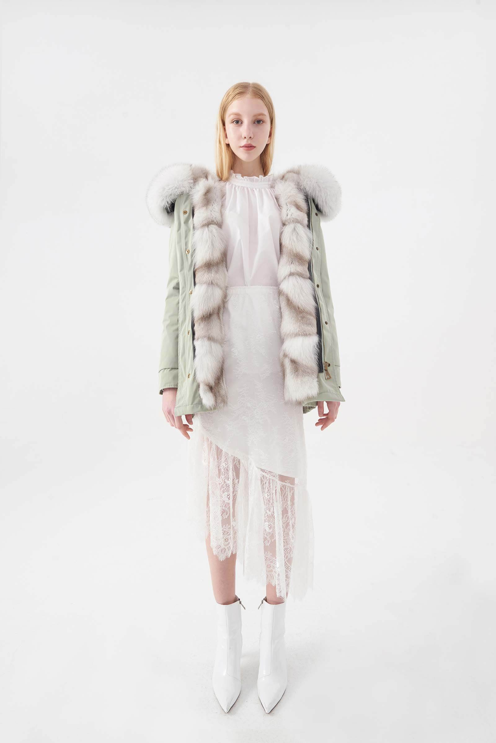 MINT GREEN PARKA ORIGINAL FOX