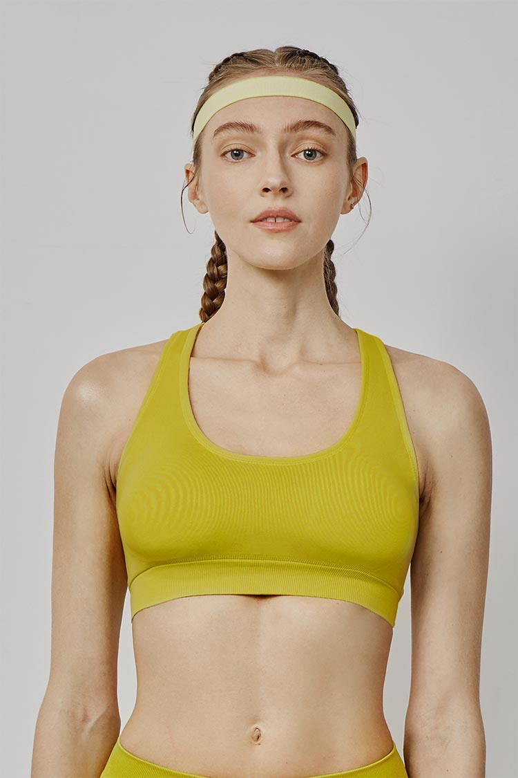 Y Shaped 'Naked-feel' ' milky  sports bra short