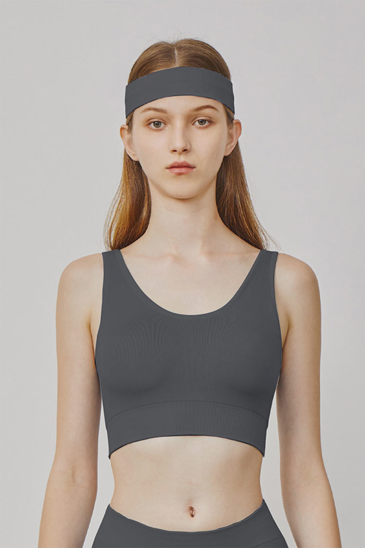 U Shaped 'Naked-feel' milky  sports bra mid