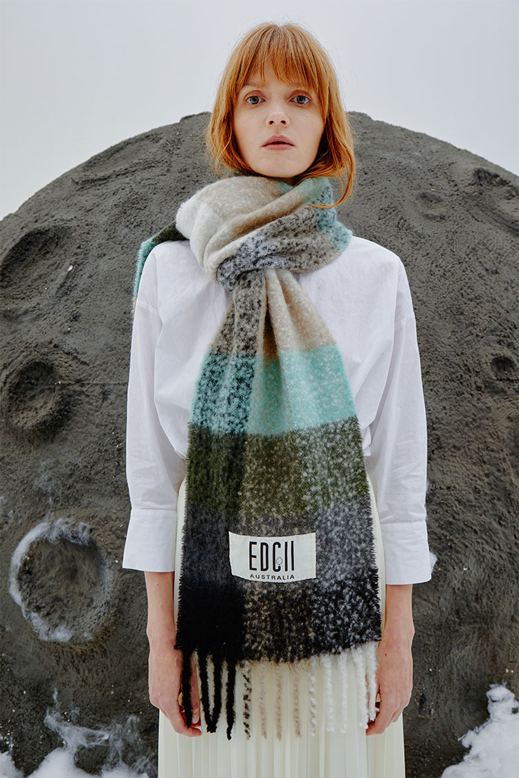 Forest Green Cotton Candy Woolen Scarf